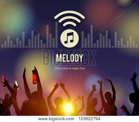 Melody Audio Entertainment Listen Music Song Concept