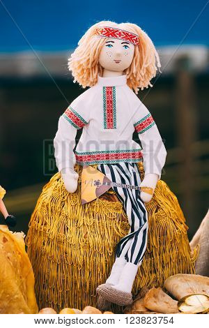 Belarusian Folk Doll. National Folk Dolls Are Popular Souvenirs From Belarus.