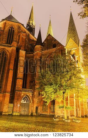 St. Mary's Church in Lubeck. Lubeck Schleswig-Holstein Germany