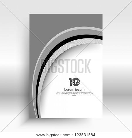 bent shape lines corporate material background concept design. eps10 vector