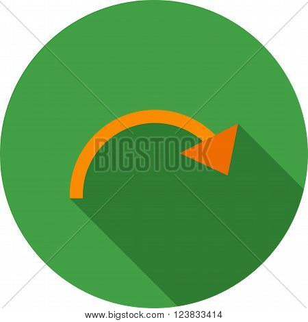 Reset, restart, redo icon vector image.Can also be used for text editing. Suitable for mobile apps, web apps and print media.