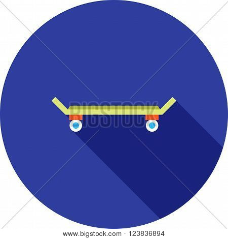 Skateboard, skateboarding, skate icon vector image. Can also be used for outdoor fun. Suitable for use on web apps, mobile apps and print media.