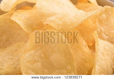 Close up of Potato chips texture background