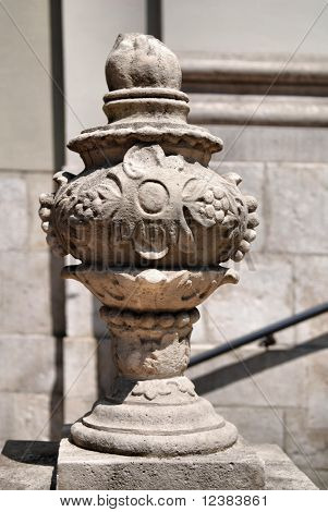 Background made of old architectural details column