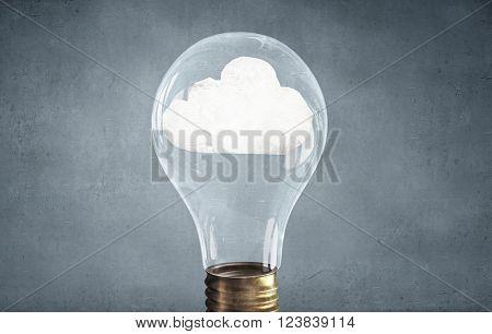 Cloud in light bulb