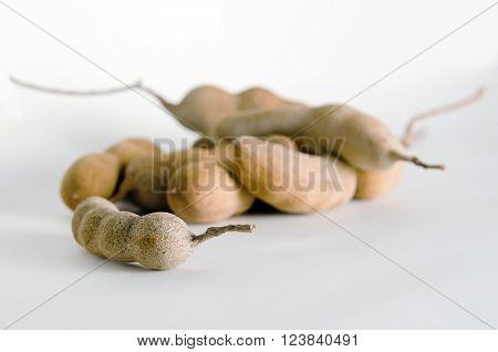 Pile Of Bitter Gourd Isolated On White Background