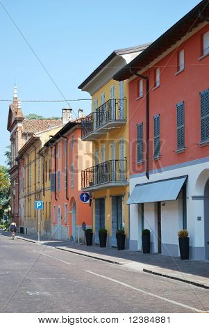 Colored Houses, Castelleone, Italy