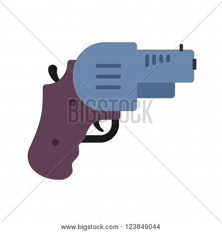 Revolver, gun, pistol icon vector image. Can also be used for games entertainment. Suitable for use on web apps, mobile apps and print media.