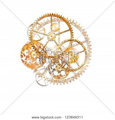 gears on the white background illustration clip-art