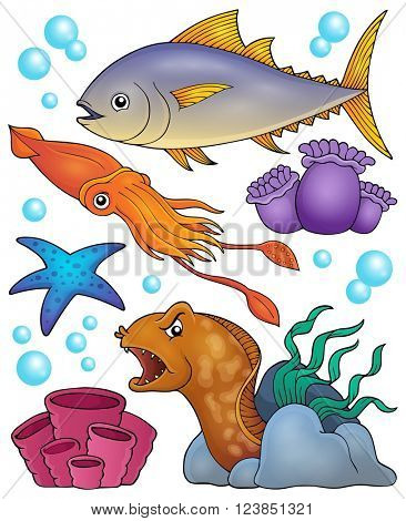 Ocean fauna topic set 2 - eps10 vector illustration.