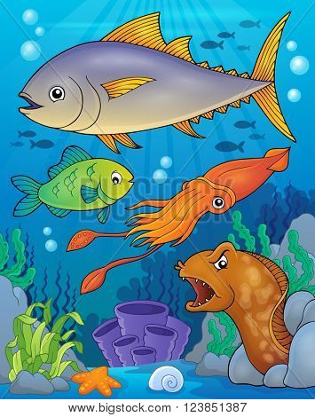 Ocean fauna topic image 6 - eps10 vector illustration.