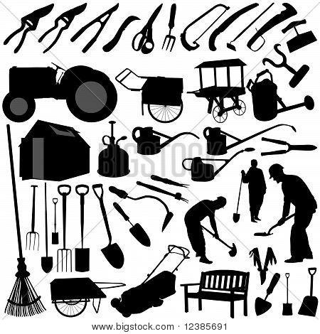 garden equipments vector