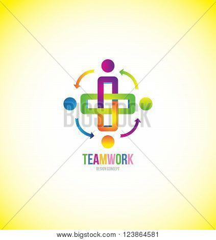 Vector company logo icon element template team teamwork concept