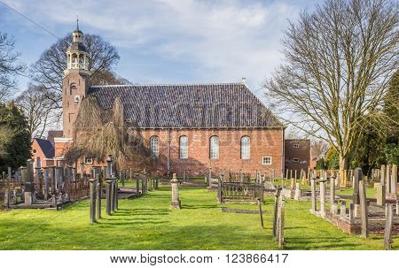 Reformed church and graveyard in Oude Pekela Holland