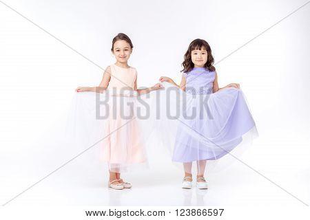 Little Girls Dressed In Princess