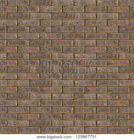Decorative Rough Brown Brick Wall. Seamless Tileable Texture.