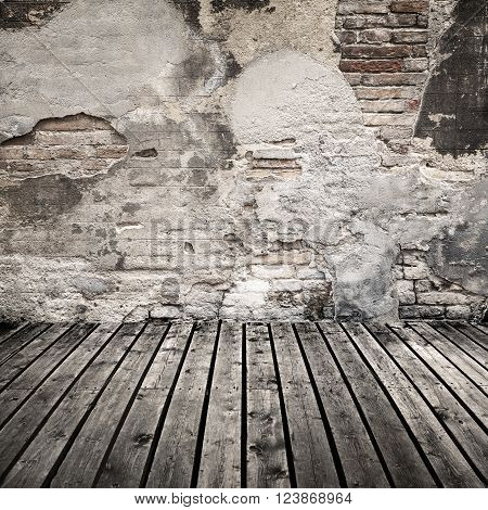 Empty Grungy Abstract Interior Background