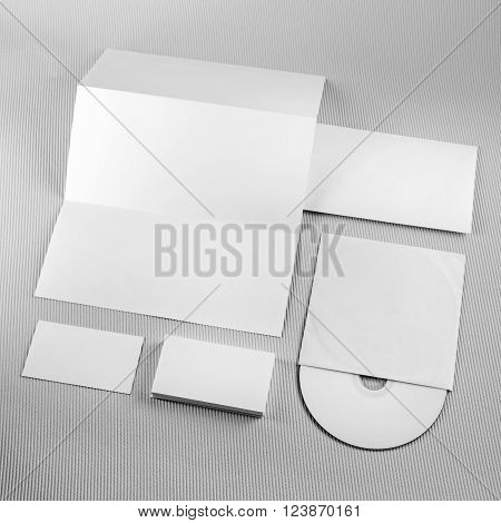 Blank stationery template for branding identity for designers. Blank stationery set. Mock-up for branding identity for designers.