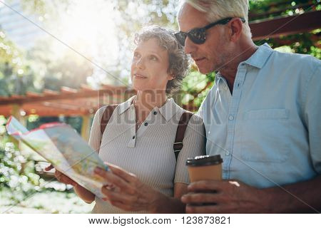 Senior Tourist Exploring New Places To Visit
