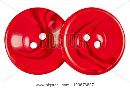 Plastic Buttons Isolated - Red