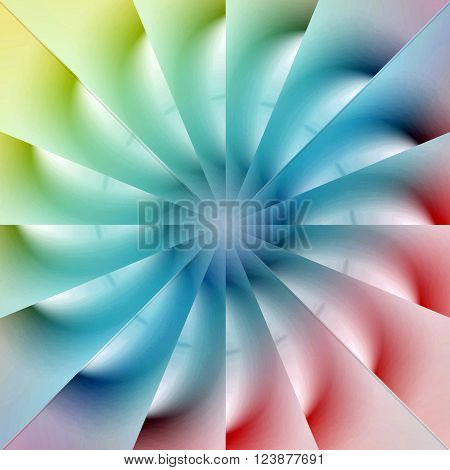 abstract 3D background of a colorful spinning wheel