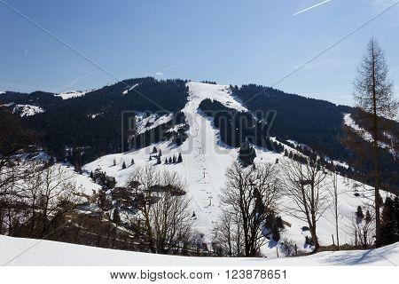 Ski area Dienten am Hochkonig austria Alps in winter ** Note: Soft Focus at 100%, best at smaller sizes