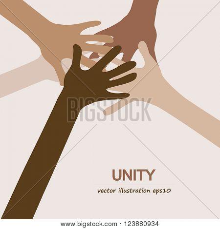 hands diverse unity togetherness