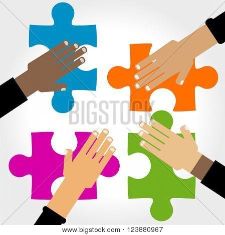 diversity hands puzzle