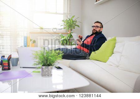 Man Thinking About Something Nice