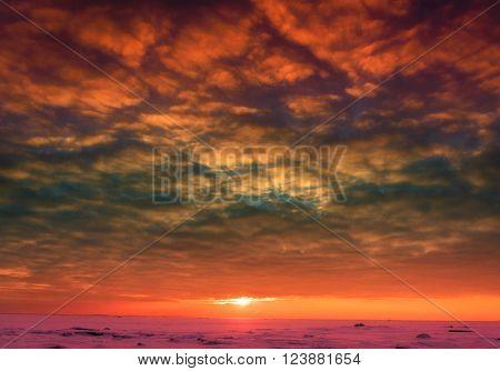 Ice Desert Northern Twilight