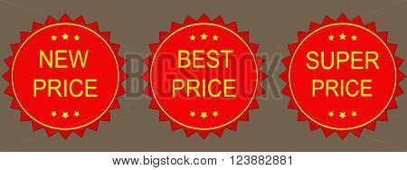 hot price best price super price vector illustration