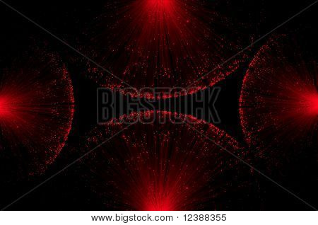 Fibre Optic Concept Background.
