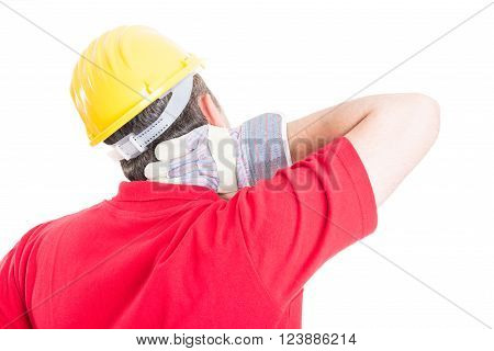 Constructor Suffering Back Neck Pain