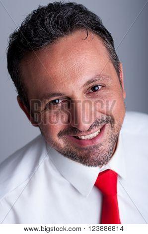 Friendly Smiling Politician Face Portrait