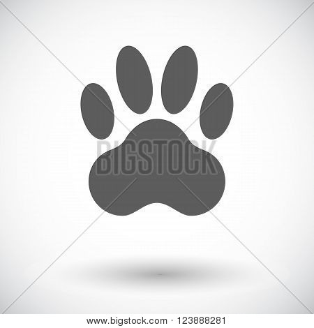 Paw icon. Flat vector related icon for web and mobile applications. It can be used as - logo, pictogram, icon, infographic element. Vector Illustration.