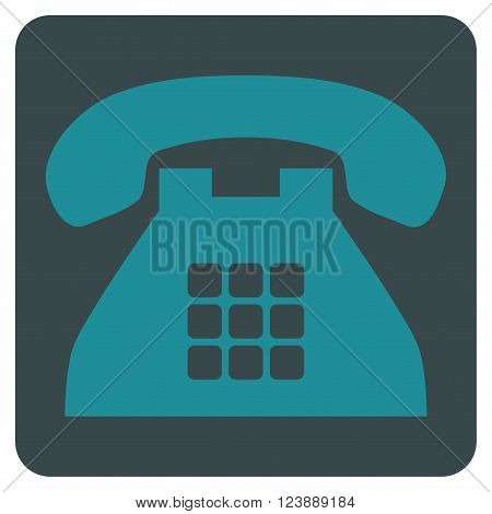 Tone Phone vector pictogram. Image style is bicolor flat tone phone iconic symbol drawn on a rounded square with soft blue colors.