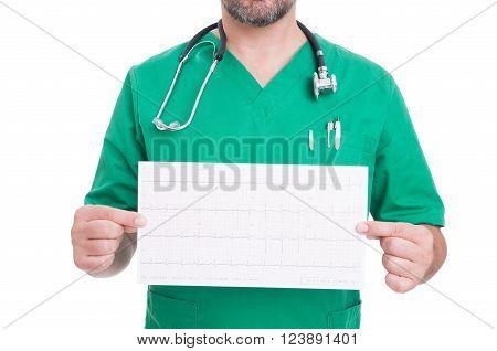 Cardiologist Doctor Holding A Heathy Ekg