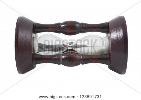 Wooden hour-glass (isolated on a white background)