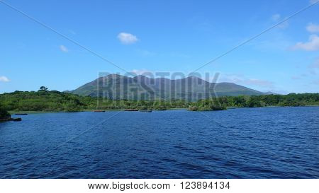 National park with a beautiful lake and mountains in Killarney, Ireland