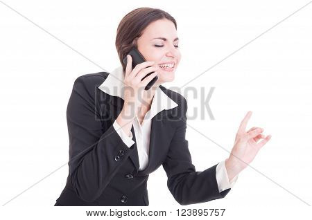 Beautiful Young Female Business Manager Talking On The Phone
