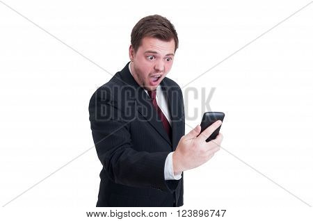 Angry Accountant Or Financial Manager Yelling On Video Call
