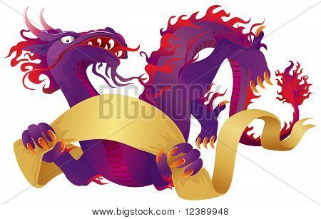 Dragon With Banner