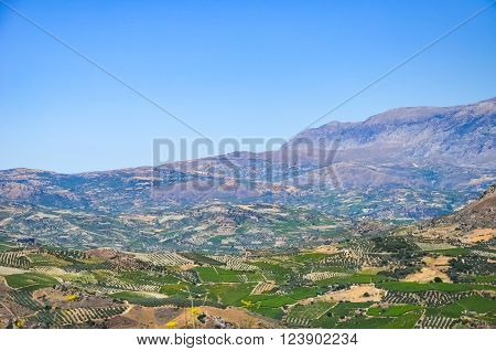 The Mountains And Plateau In Greece (crete)