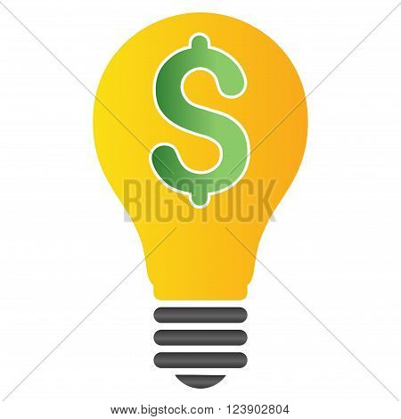 Patent Bulb vector toolbar icon for software design. Style is a gradient icon symbol on a white background.