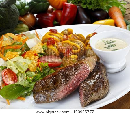 Grilled beef steak, picanha