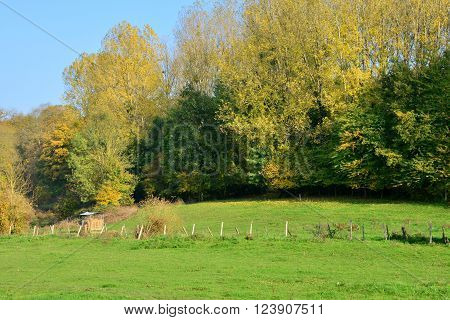 Seraincourt France - october 26 2015 : the picturesque village of Val d Oise in autumn