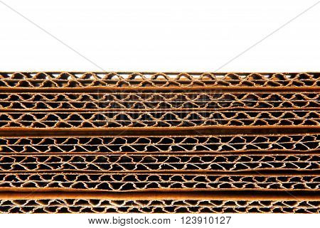 close up of the corrugated paper texture