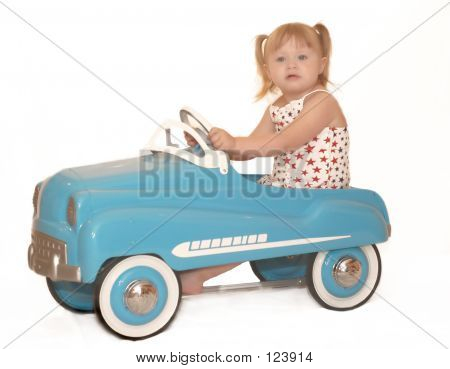 Little Girl Pedal Car 3995