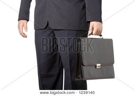 Businessman Carrying A Case