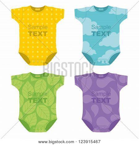 Baby bodysuit New born baby bodysuit. vector illustration